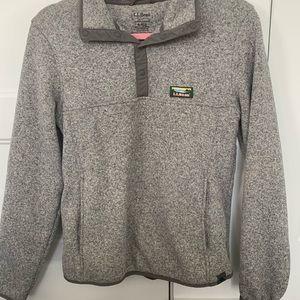 Fleece lined LL bean pullover